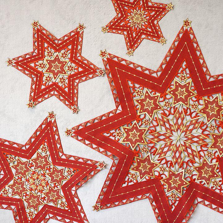 Sternen-Stickerei 2er-Set