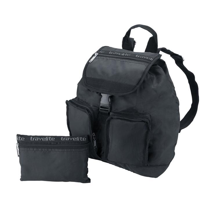 travelite MiniMax Falt-Rucksack schwarz