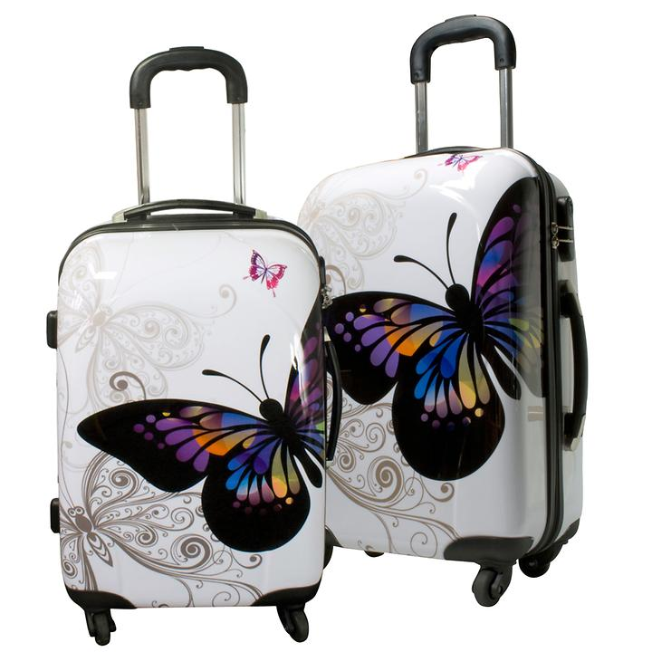 Trolley-Set Butterfly 2-tlg. 4 Rollen