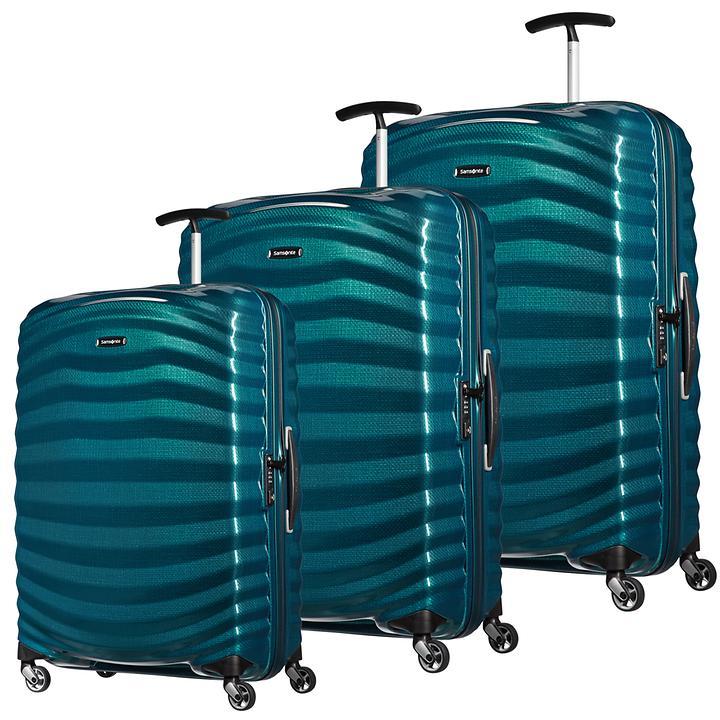 Samsonite Lite-Shock Trolleys petrol blue 4 Rollen