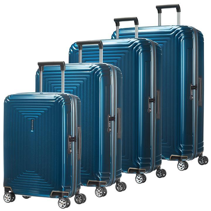 Samsonite Neopulse Trolleys metallic blue 4 Rollen