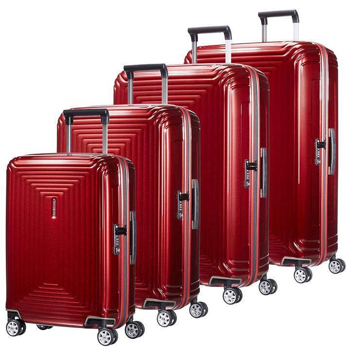 Samsonite Neopulse Trolleys metallic red 4 Rollen