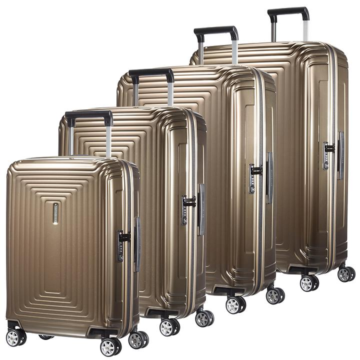 Samsonite Neopulse Trolleys metallic sand 4 Rollen