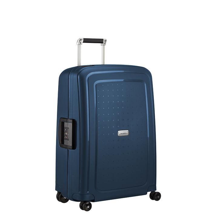 Samsonite S'Cure DLX, 55 cm, Trolley, metallic blue, 4 Rollen, Kabinengepäck