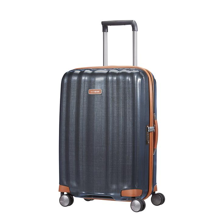 Samsonite Lite-Cube DLX, 55 cm, Trolley, midnight blue, 4 Rollen, Kabinengepäck