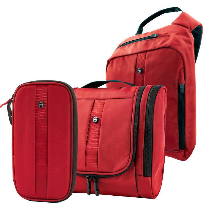Victorinox Lifestyle Accessories 4.0 Rucksack, Organizer & Toilet Kit Rot