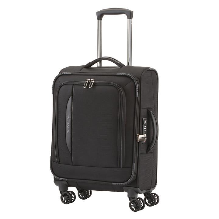 Travelite CrossLITE, 55 cm, Trolley, Schwarz, 4 Rollen