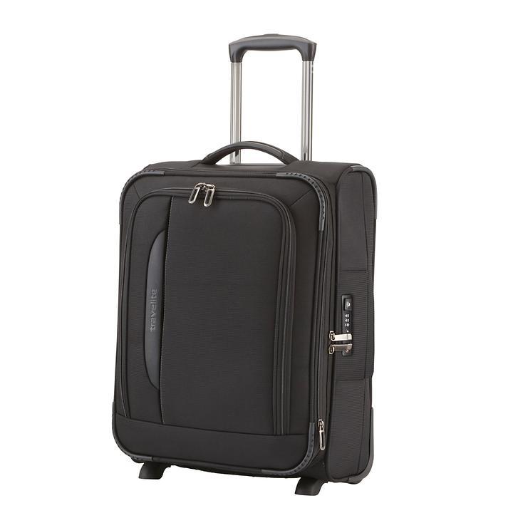 Travelite CrossLITE, 54 cm, Trolley, Schwarz, 2 Rollen, erweiterbar