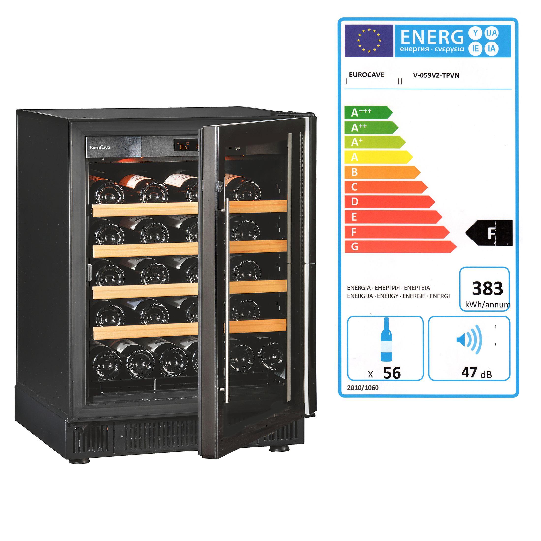 Einzonen-Weinklimaschrank Compact, niedrig, ca. 56 Fl.