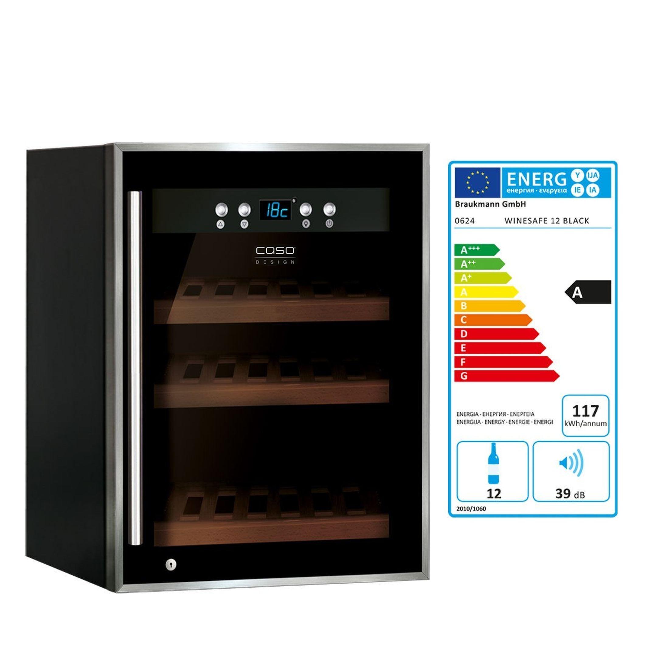 Weinkühlschrank WineSafe 12 black