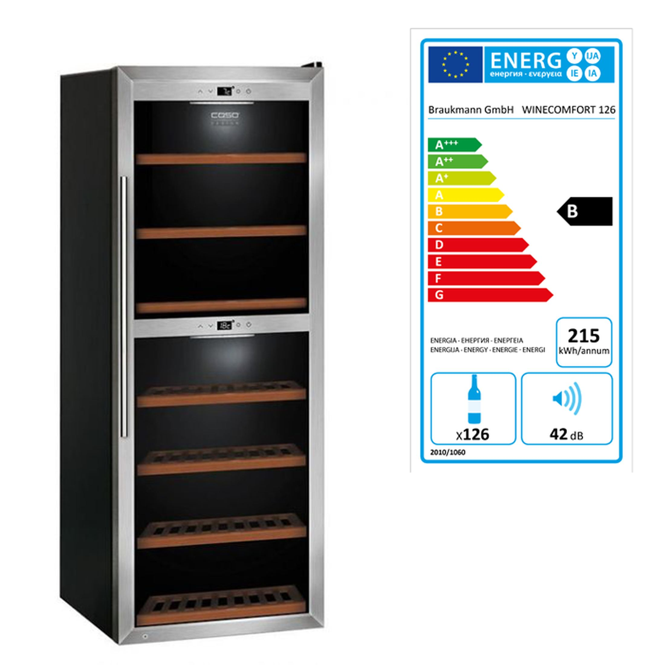 Weinkühlschrank WineMaster 126
