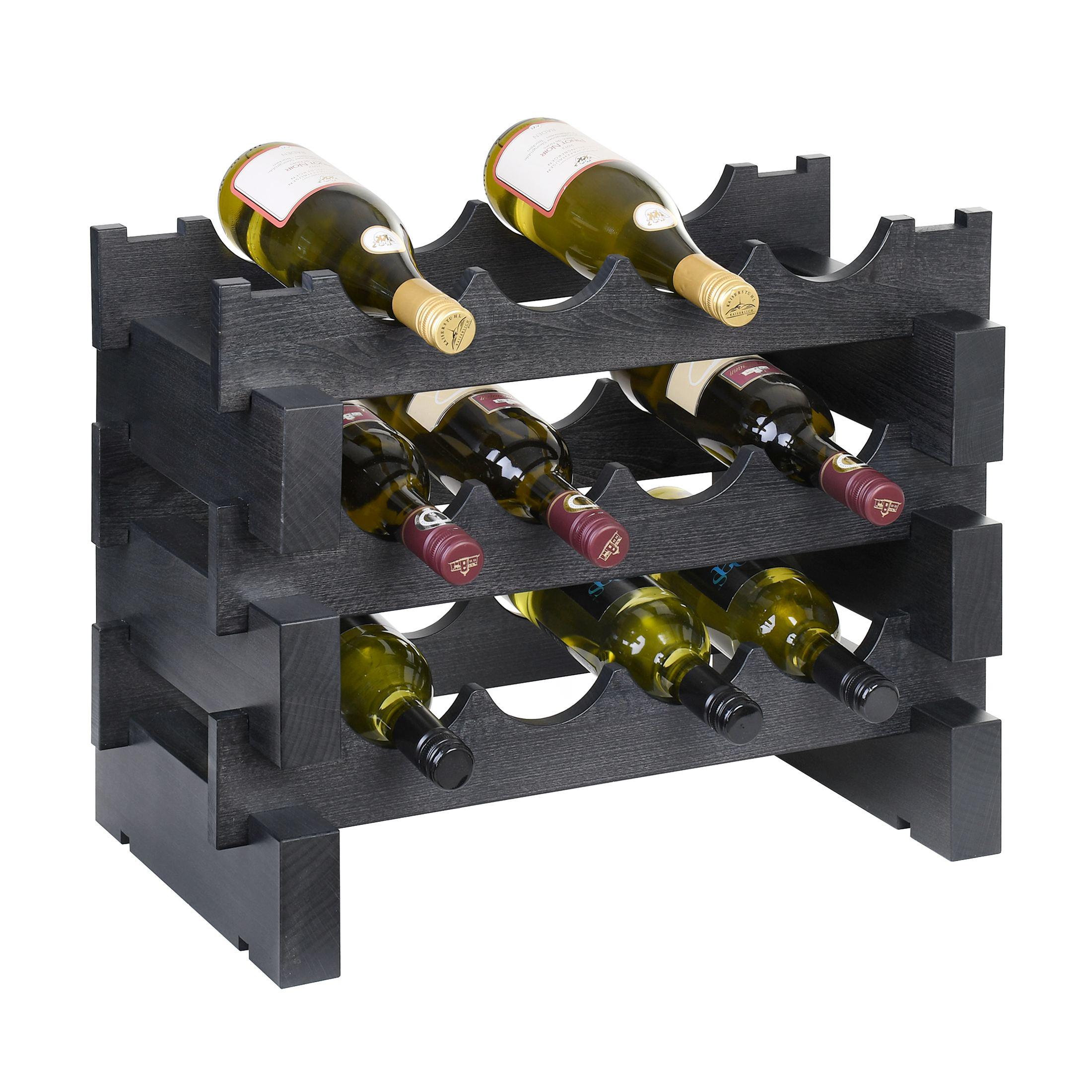Weinregal-034-034-Casanova-034-034-Holz-Buche-schiefer-stapelbar-erweiterbar