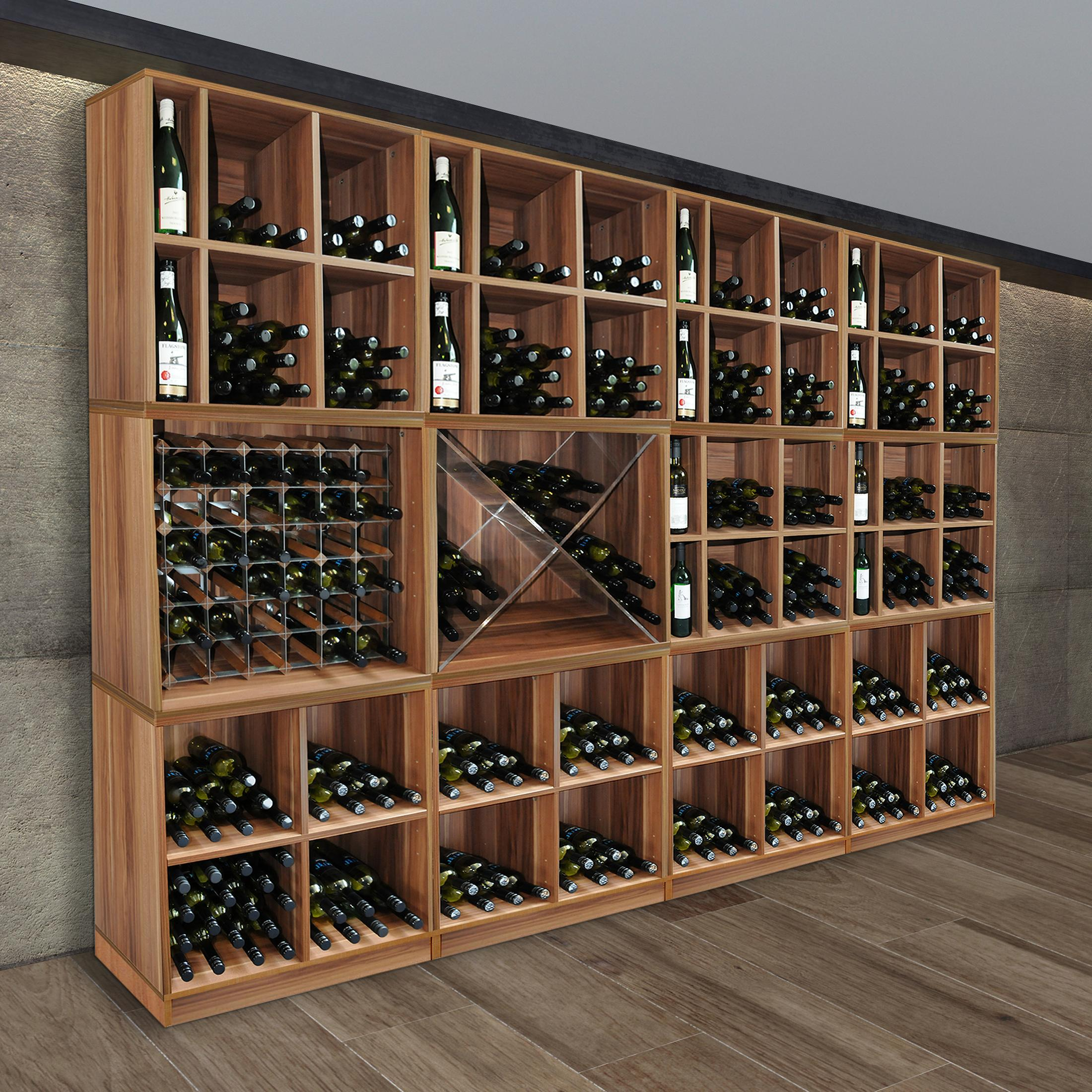 weinregal flaschenregal system cavepro holz melamin beschichtet birnbaum ebay. Black Bedroom Furniture Sets. Home Design Ideas