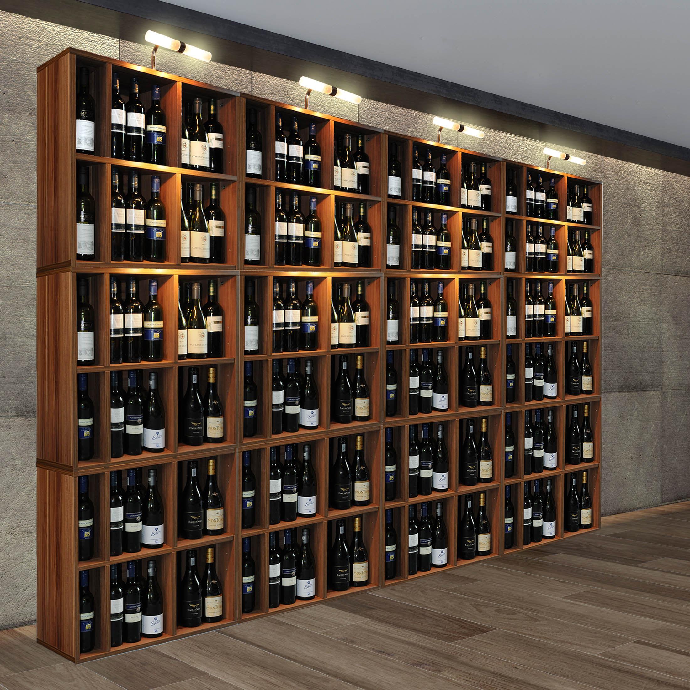 Weinregal Flaschenregal System Cavepro Holz Melamin Beschichtet