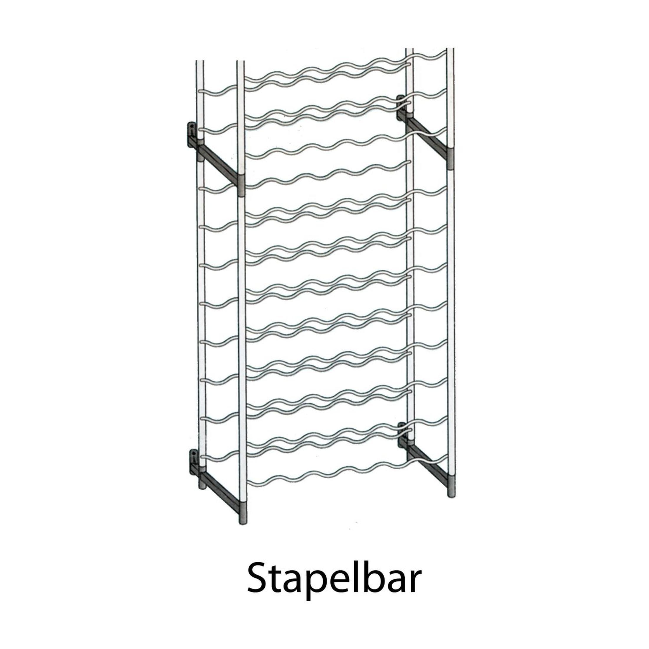 weinregal flaschenregal system bardolino metall mit kunststoff berzogen sta ebay. Black Bedroom Furniture Sets. Home Design Ideas