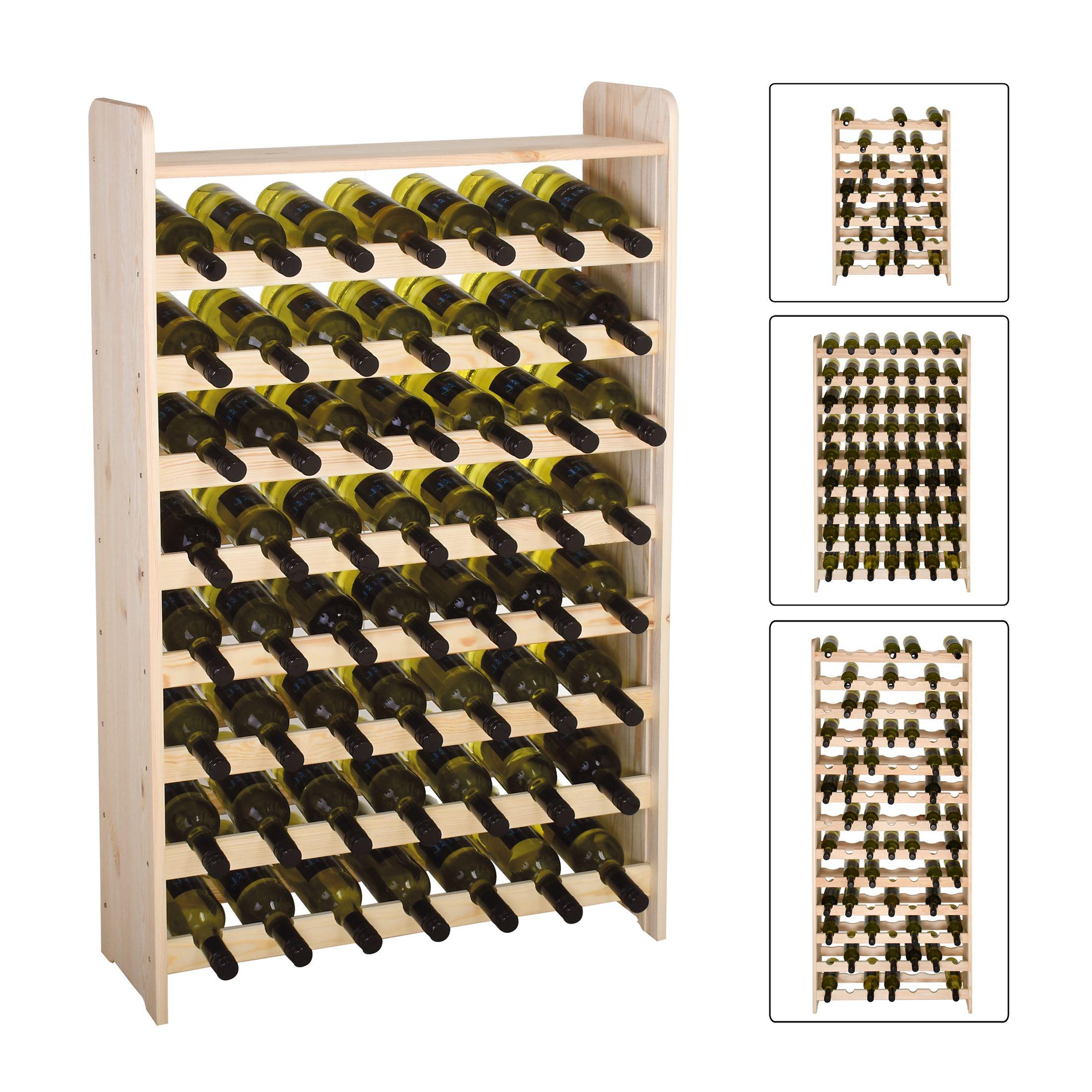 weinregal flaschenregal system optiplus holz kiefer natur ebay. Black Bedroom Furniture Sets. Home Design Ideas