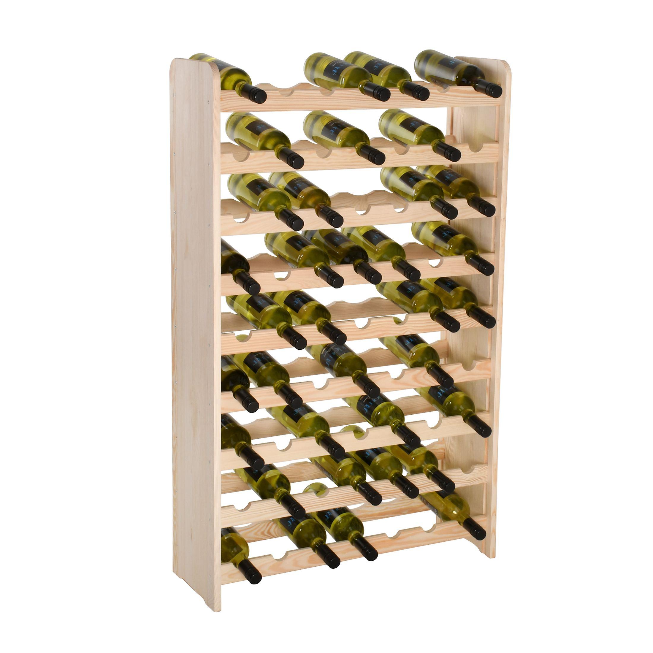 Weinregal-Flaschenregal-System-034-034-Optiplus-034-034-Holz-Kiefer-Natur