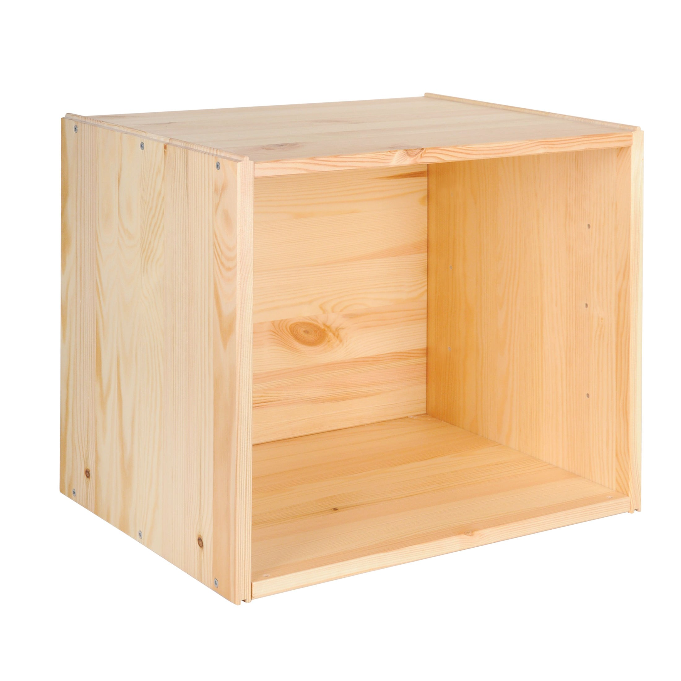 Weinlagerbox-Weinregal-034-034-Easy-034-034-Kiefernholz-stapelbar-erweiterbar-H-39-x