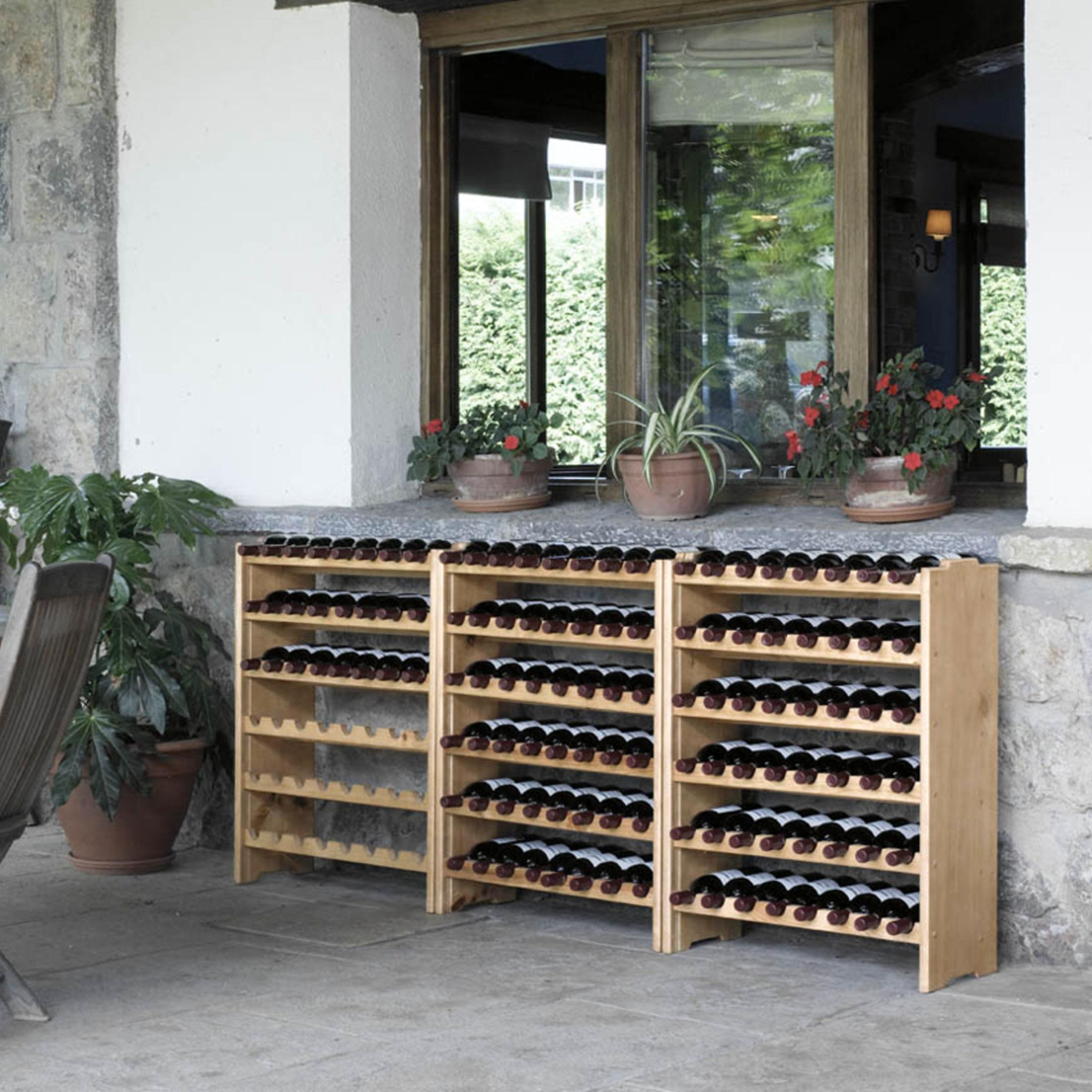 weinregal system medoc holz kiefer natur stapelbar erweiterbar ebay. Black Bedroom Furniture Sets. Home Design Ideas