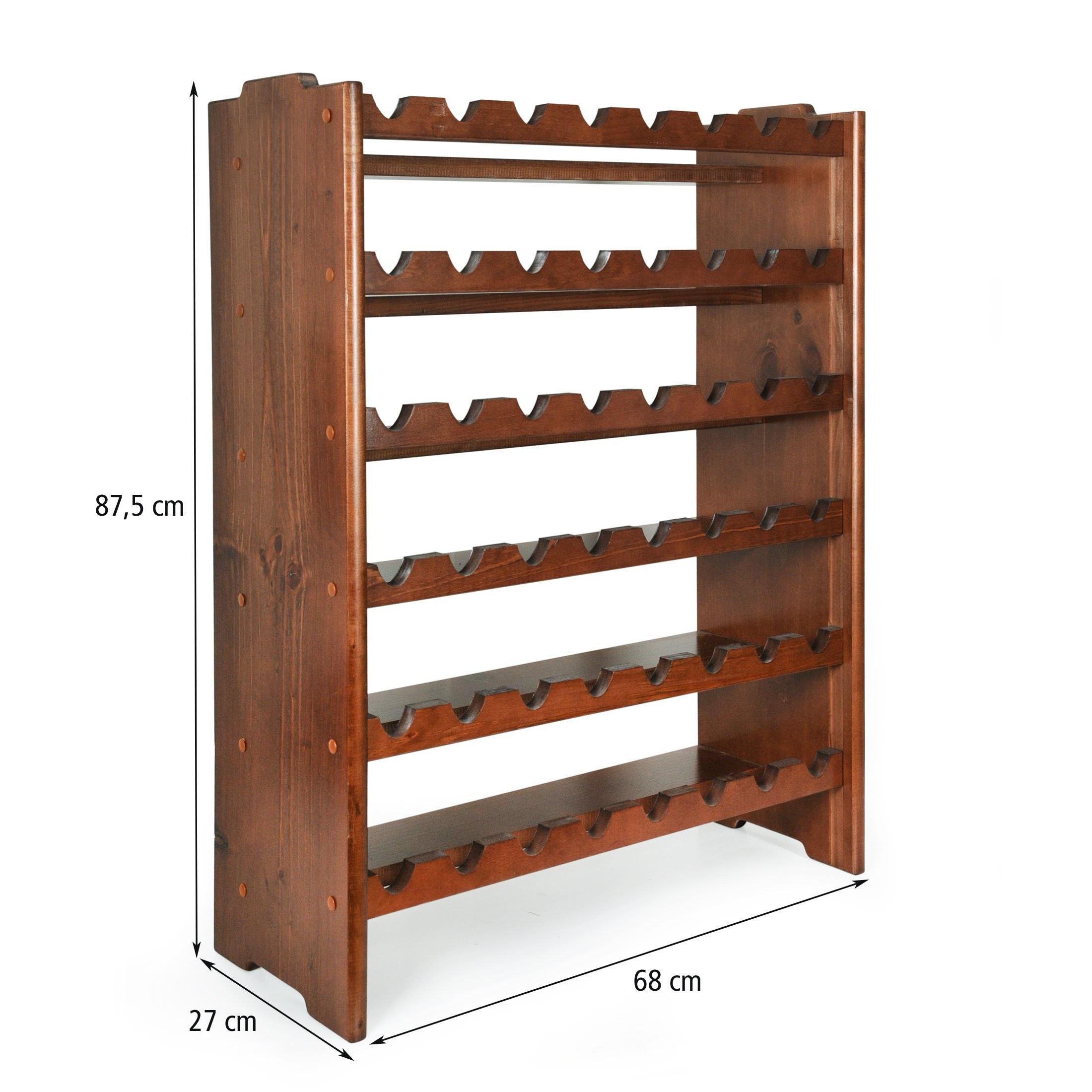 weinregal system medoc holz kiefer dunkelbraun stapelbar erweiterbar ebay. Black Bedroom Furniture Sets. Home Design Ideas