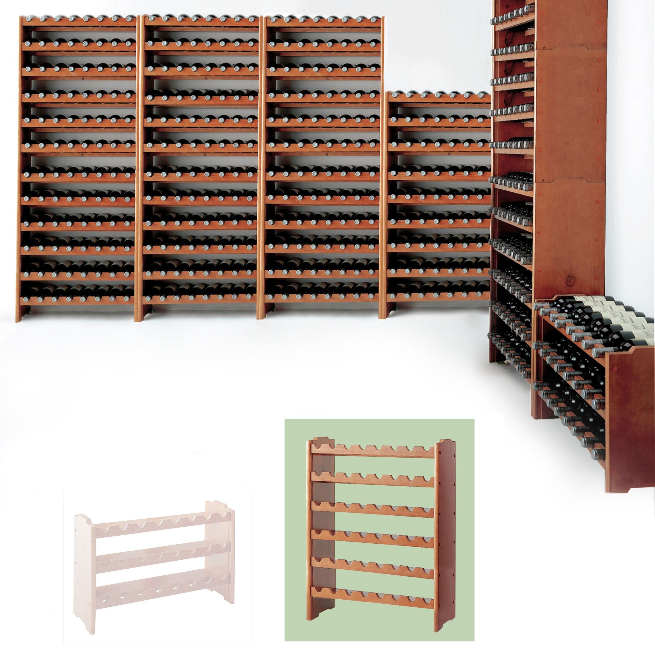 weinregal system medoc holz kiefer dunkelbraun stapelbar. Black Bedroom Furniture Sets. Home Design Ideas
