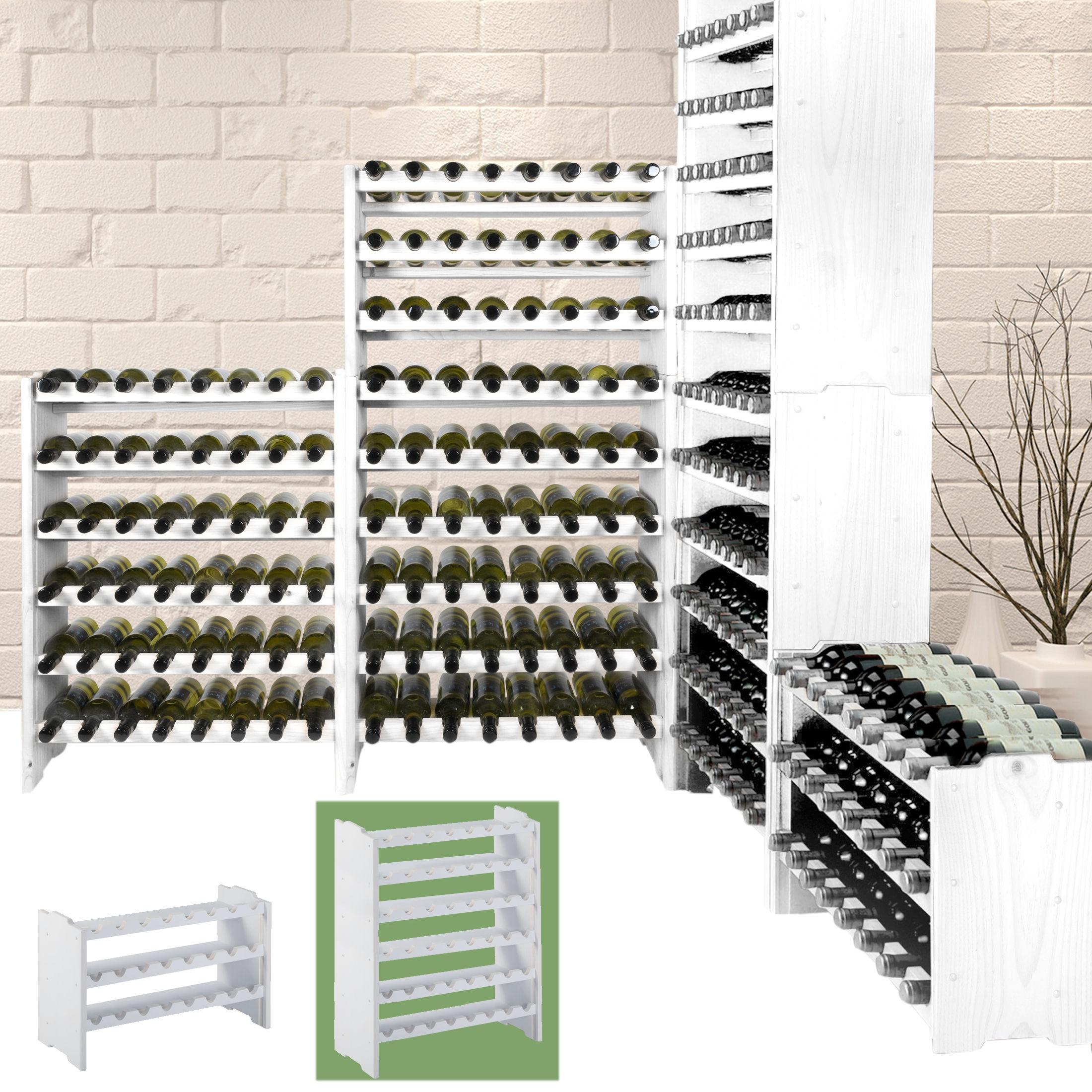 weinregal system medoc holz kiefer wei stapelbar erweiterbar. Black Bedroom Furniture Sets. Home Design Ideas