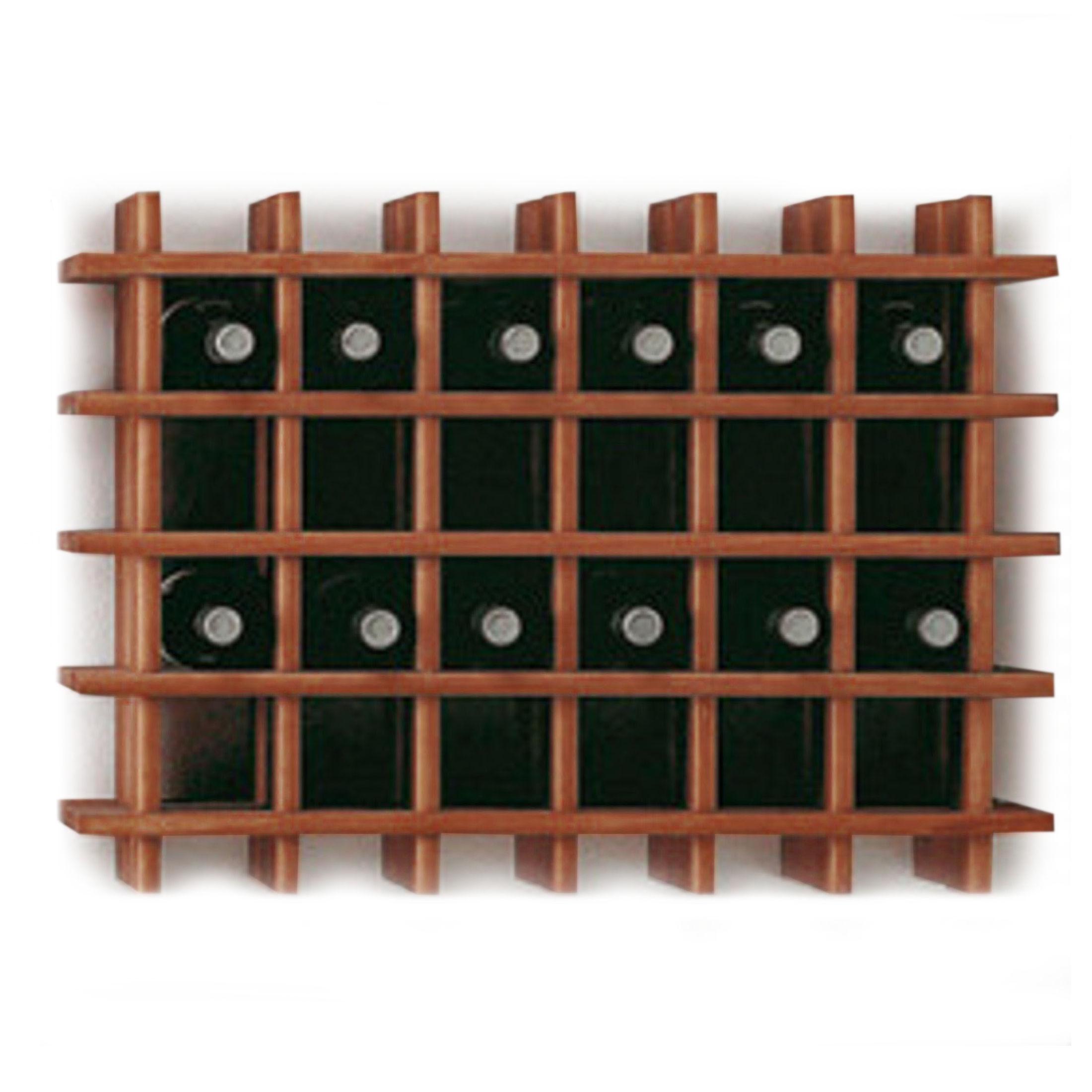 weinregal system primavino holz kiefer dunkelbraun stapelbar erweiterbar ebay. Black Bedroom Furniture Sets. Home Design Ideas