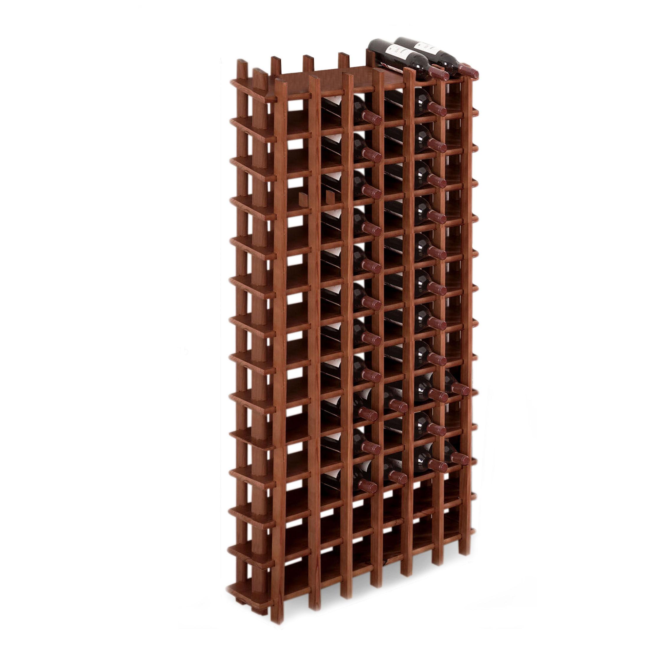 weinregal system primavino holz kiefer dunkelbraun. Black Bedroom Furniture Sets. Home Design Ideas