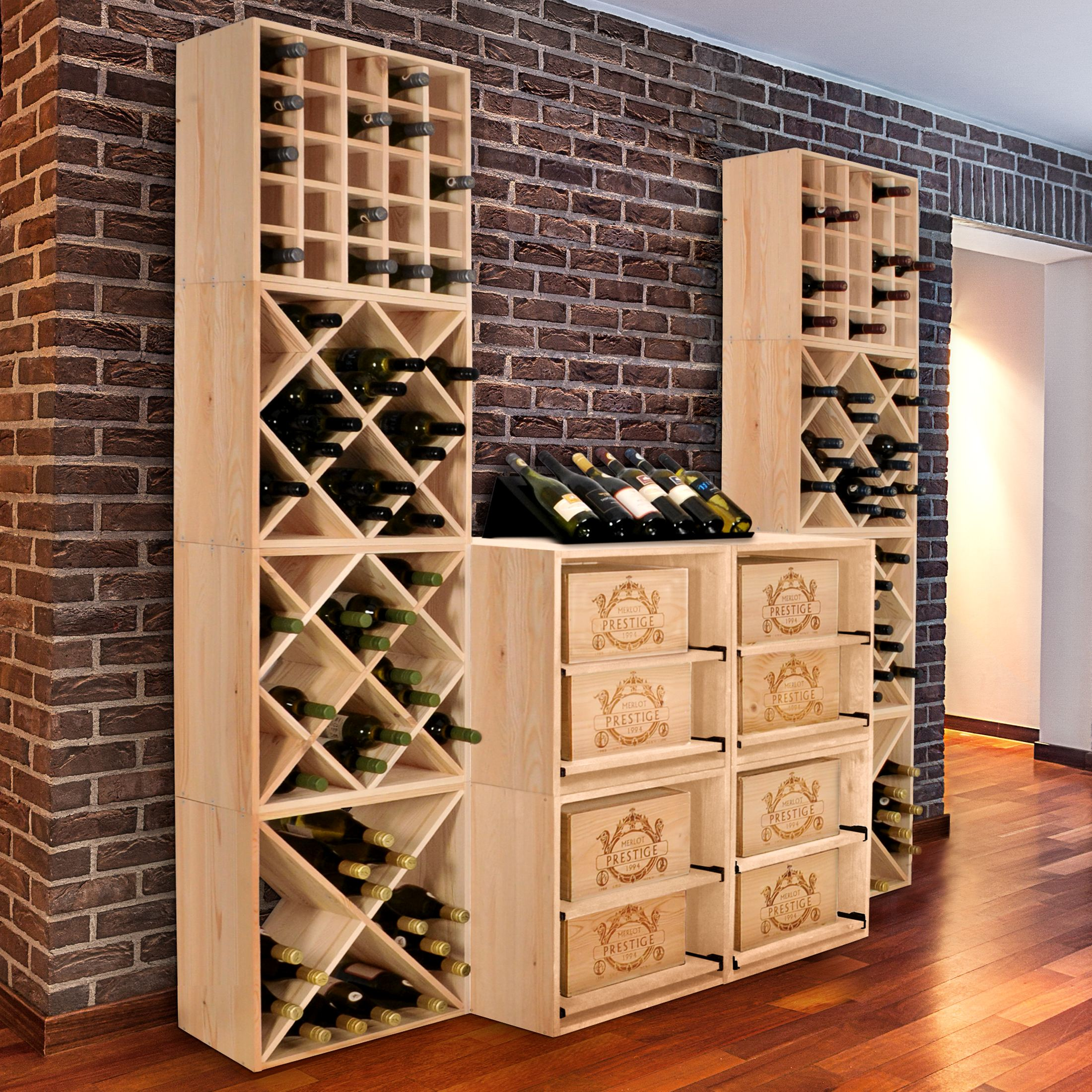 weinregal system cube 52 holz kiefer natur h 52 x b 52 x t 25 cm ebay. Black Bedroom Furniture Sets. Home Design Ideas