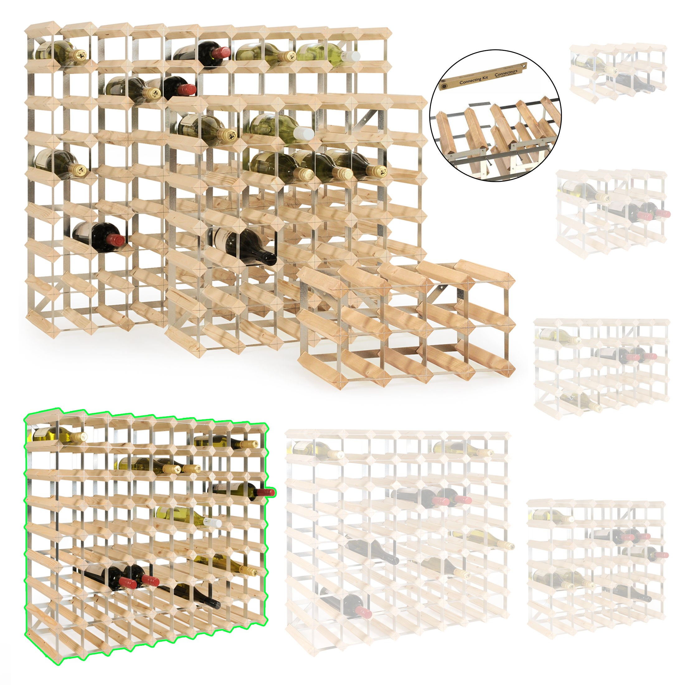 weinregal flaschenregal system trend kiefer natur. Black Bedroom Furniture Sets. Home Design Ideas
