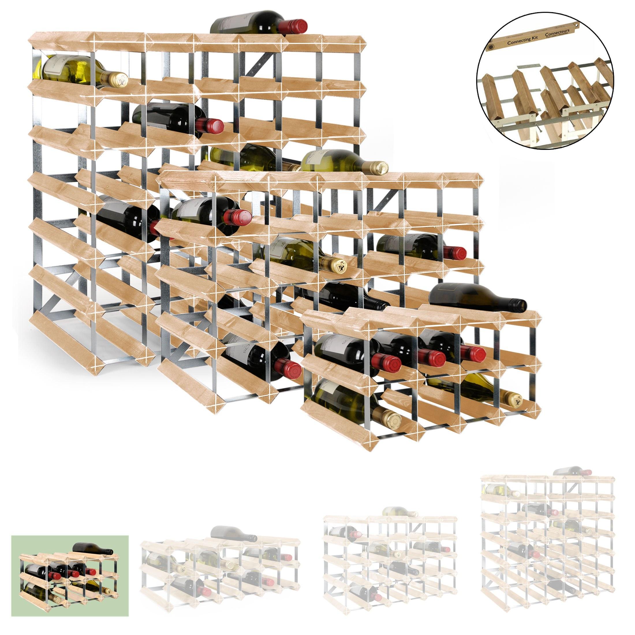weinregal trend f r 12 fl hellbraun gebeizt h 22 8 x b. Black Bedroom Furniture Sets. Home Design Ideas