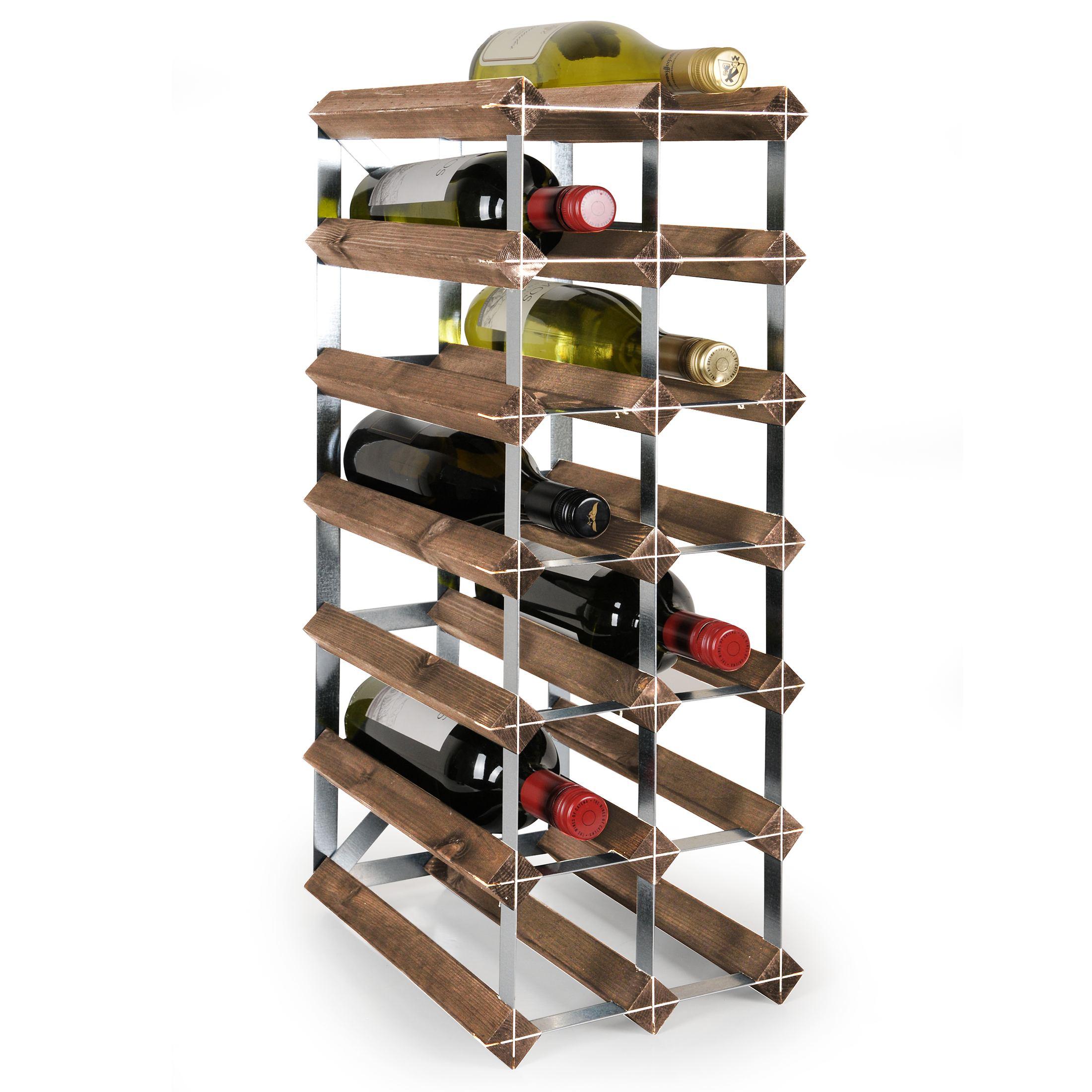 syst me d 39 tag re vin modulaire trend en bois de ch ne. Black Bedroom Furniture Sets. Home Design Ideas