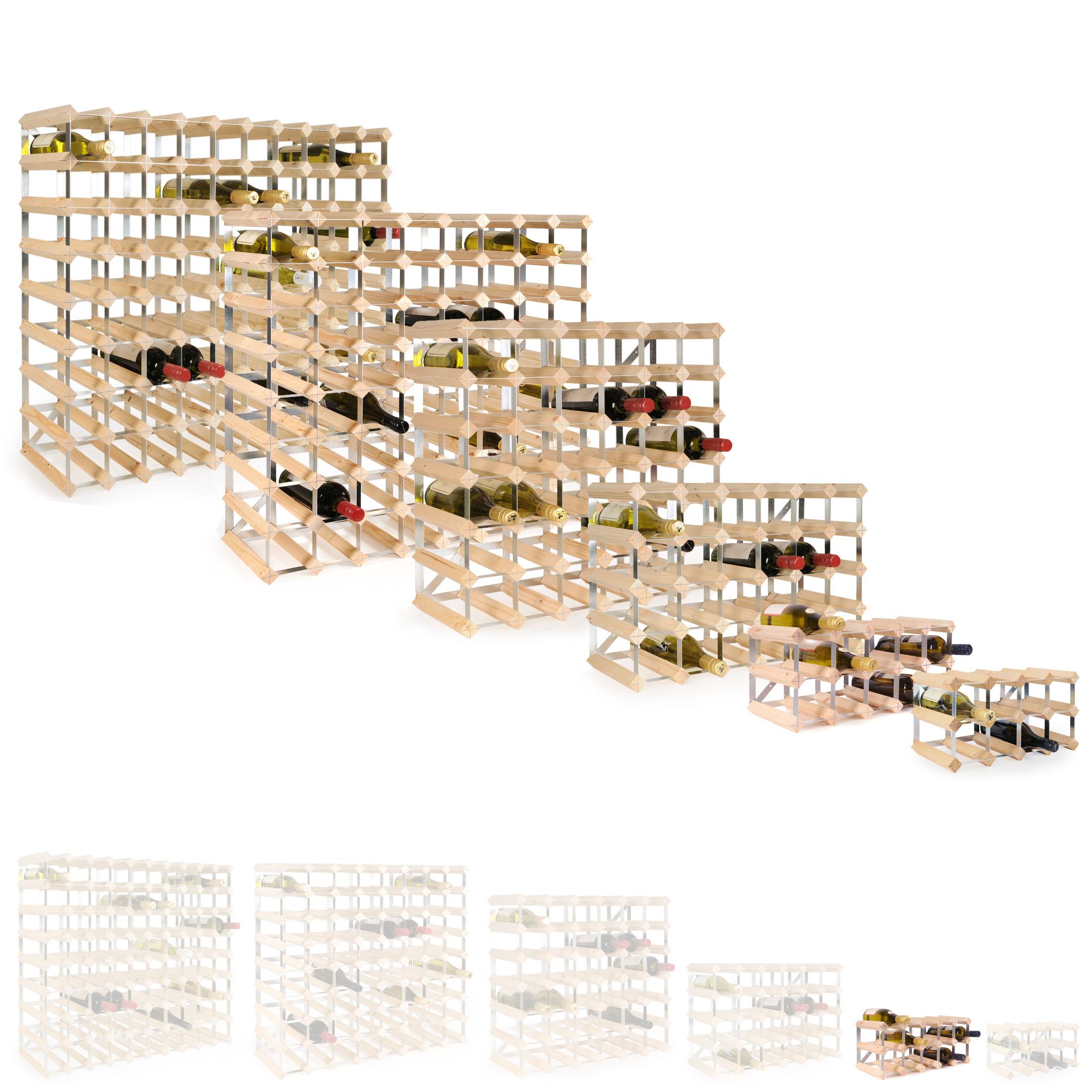 weinregal trend holz kiefer natur selbstaufbau. Black Bedroom Furniture Sets. Home Design Ideas
