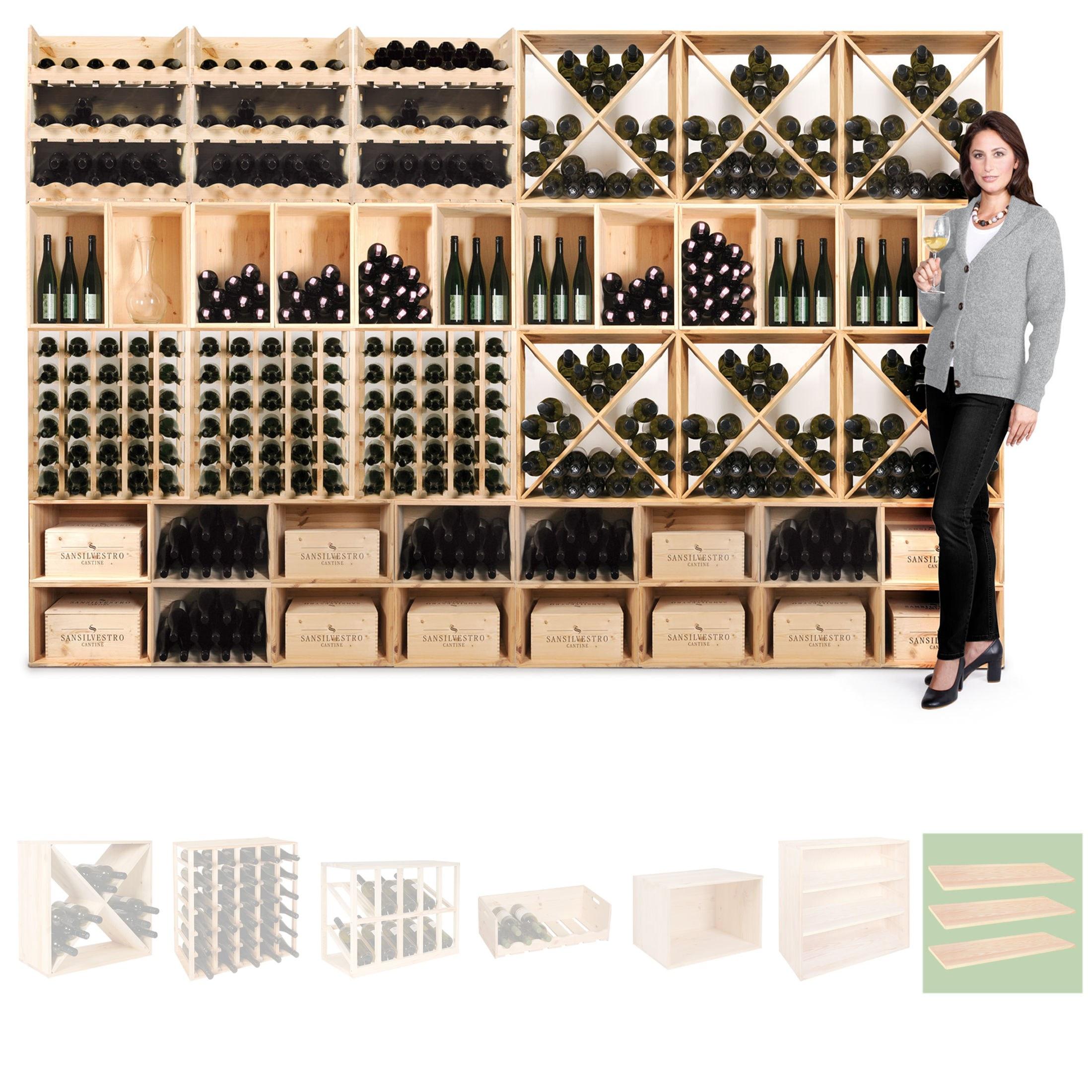 weinregal flaschenregal system vincasa holz kiefer natur stapelbar erweite ebay. Black Bedroom Furniture Sets. Home Design Ideas