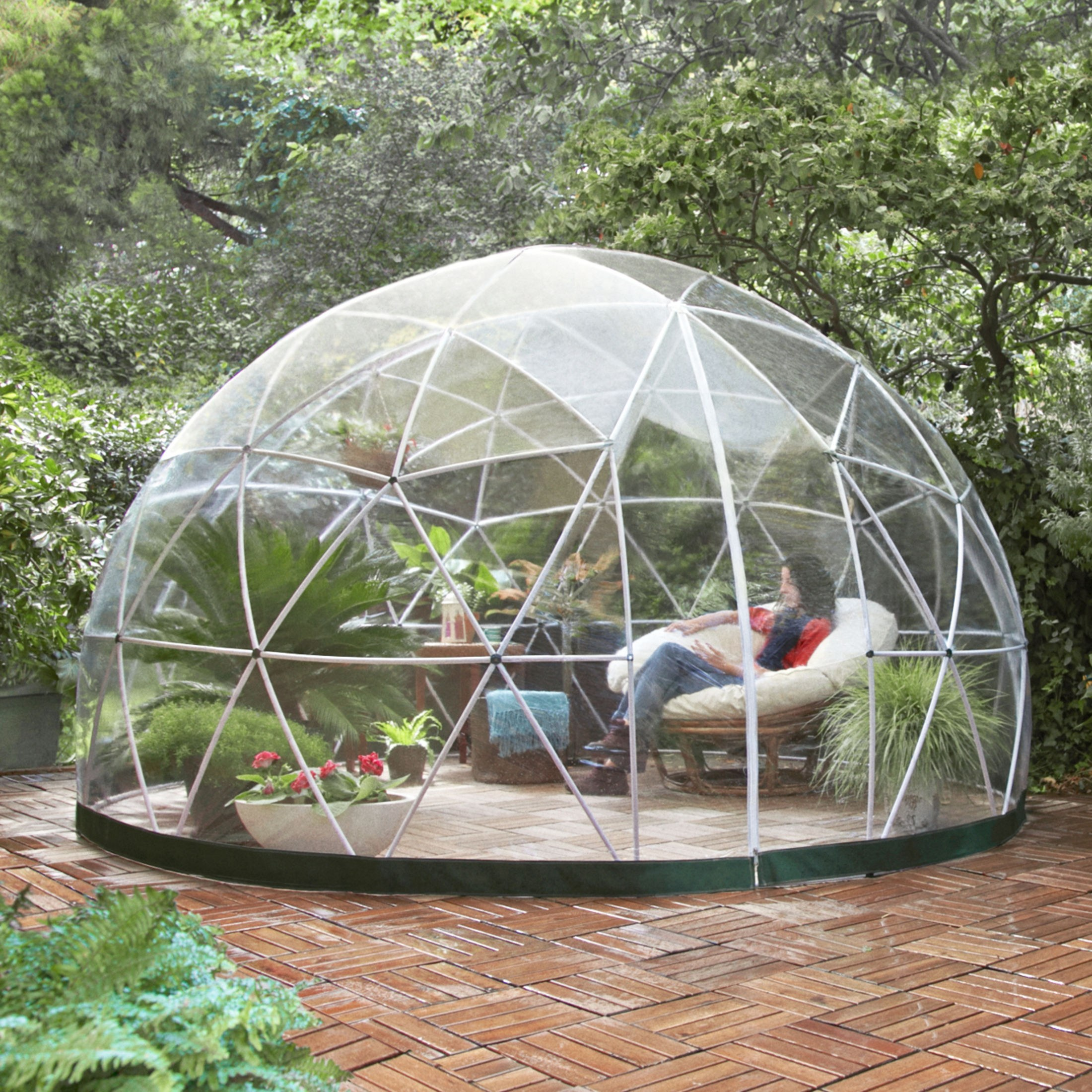 garden igloo pavillon gew chshaus garten iglu four. Black Bedroom Furniture Sets. Home Design Ideas