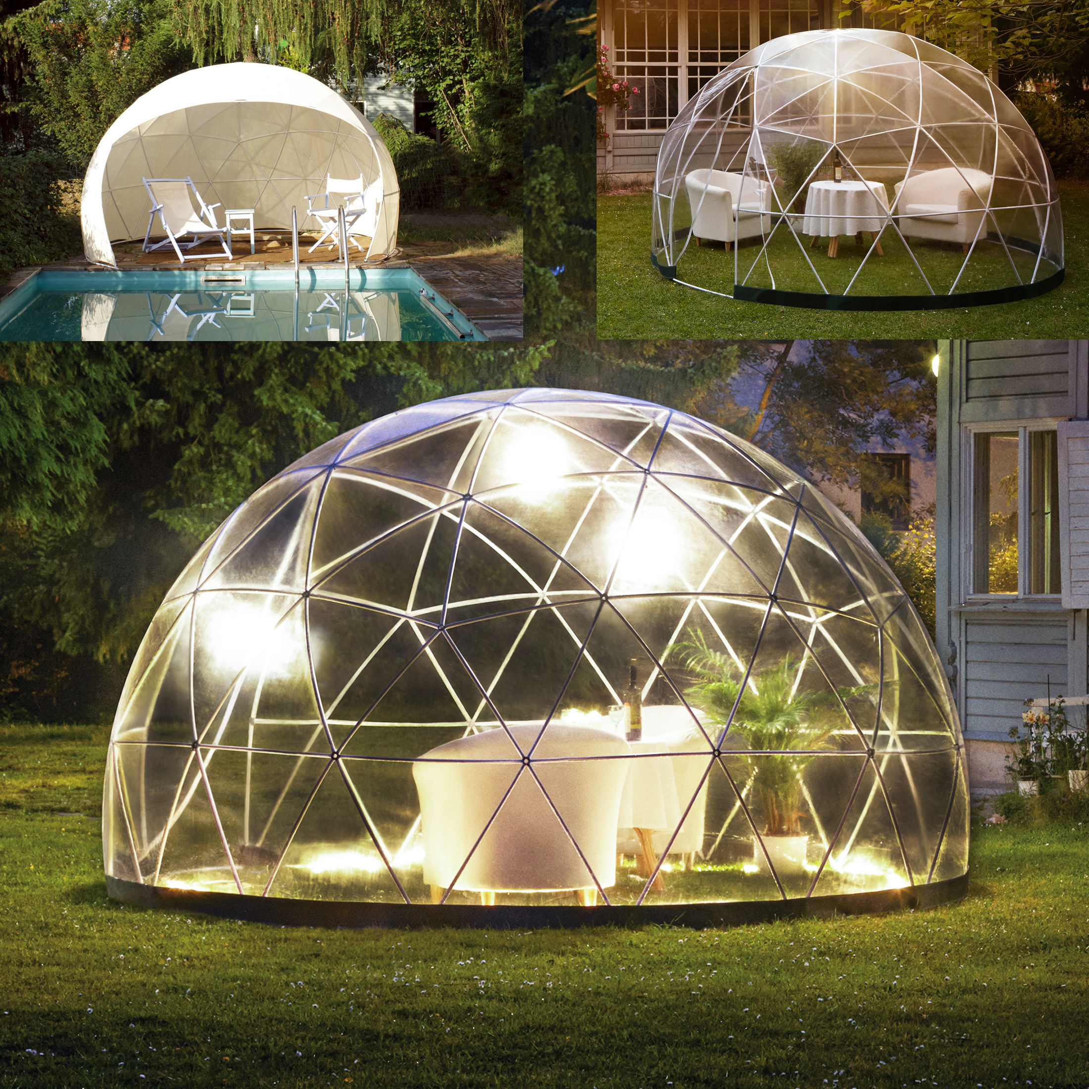 garten iglu pavillon gew chshaus garden igloo four seasons und passender son ebay. Black Bedroom Furniture Sets. Home Design Ideas
