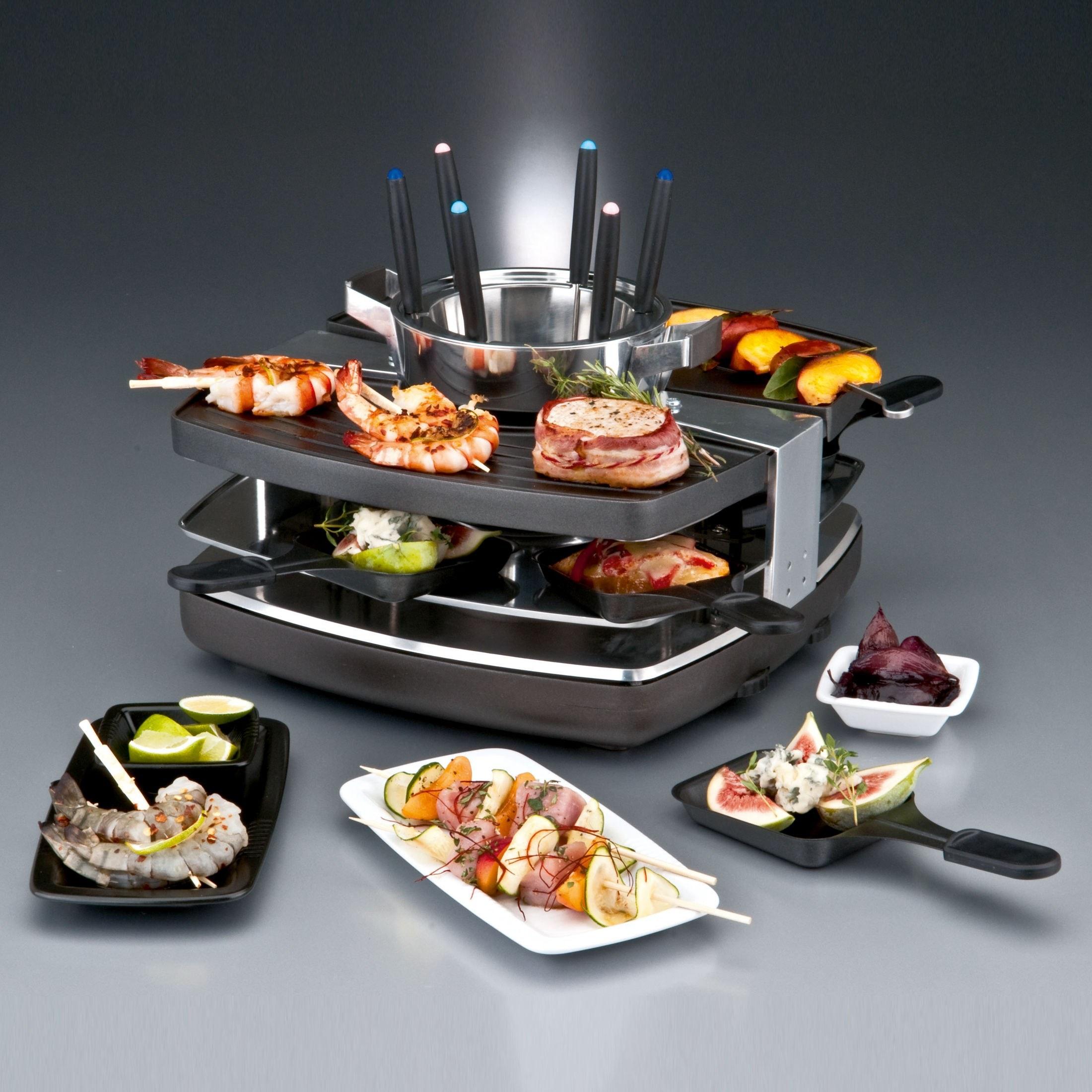 raclette fondue set duo 42559 ebay. Black Bedroom Furniture Sets. Home Design Ideas