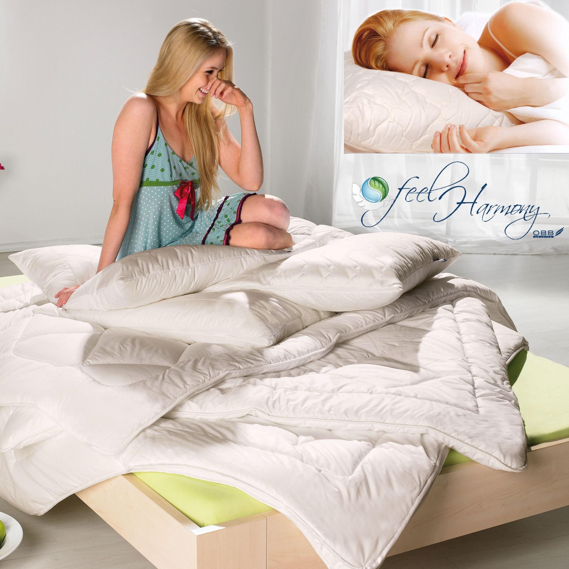 Bettdecke Kissen Zirbe Promondo