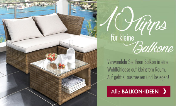 10 tipps f r kleine balkone promondo gutscheine deals. Black Bedroom Furniture Sets. Home Design Ideas